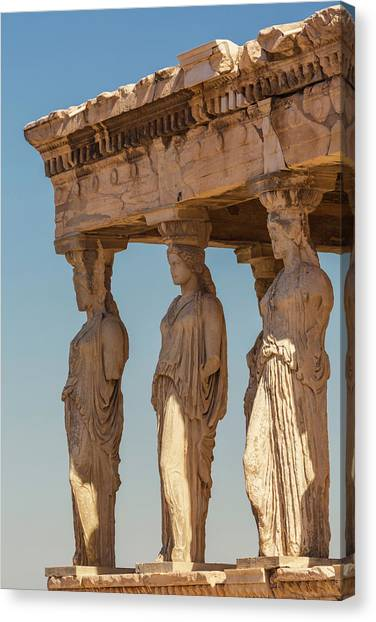 The Acropolis Canvas Print - Athens, Attica, Greece. Porch by Panoramic Images