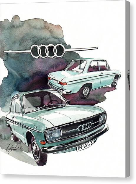 Audi Canvas Print - Audi 72 by Yoshiharu Miyakawa