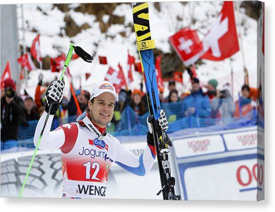Audi Fis World Cup - Men's Downhill Canvas Print by Alexis Boichard/Agence Zoom