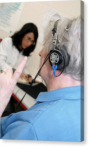 Audiometry Test Canvas Print by Aj Photo/science Photo Library