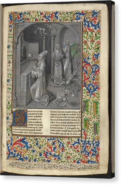 Satan Canvas Print - Augustine's 'city Of God' by British Library