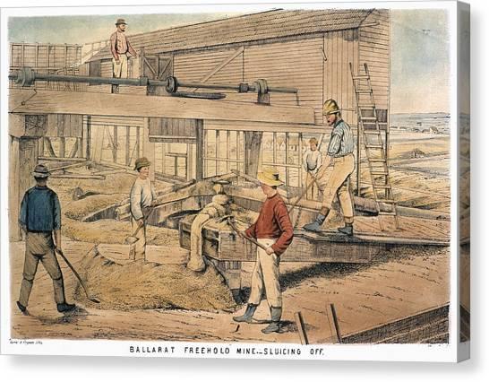 Hamels Canvas Print - Australia Gold Mine, 1867 by Granger