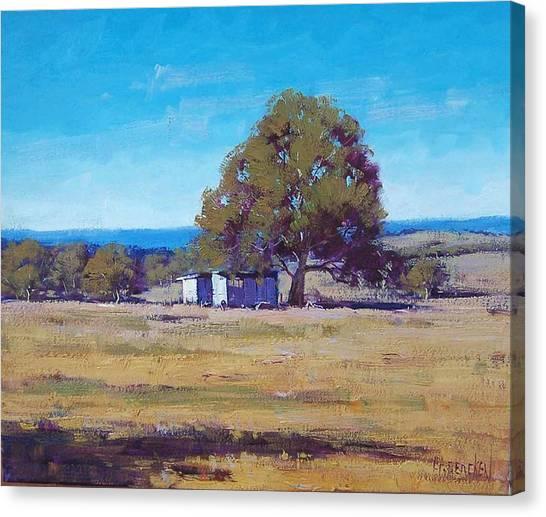 Homestead Canvas Print - Australian Summer Landscape by Graham Gercken