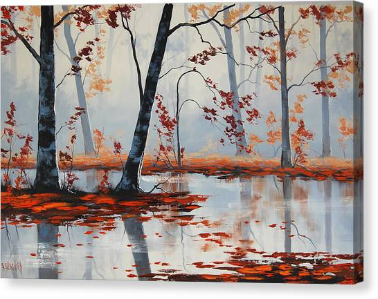 Amber Canvas Print - Autumn Blaze by Graham Gercken