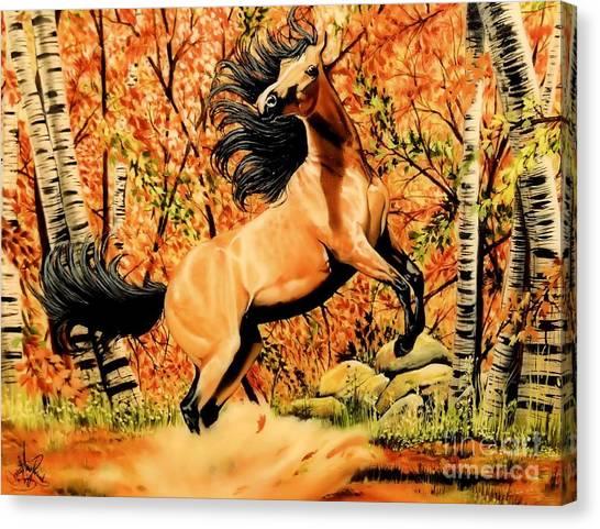 Autumn Frolick Canvas Print
