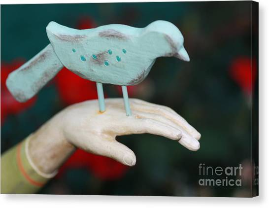 Avian On Hand Canvas Print