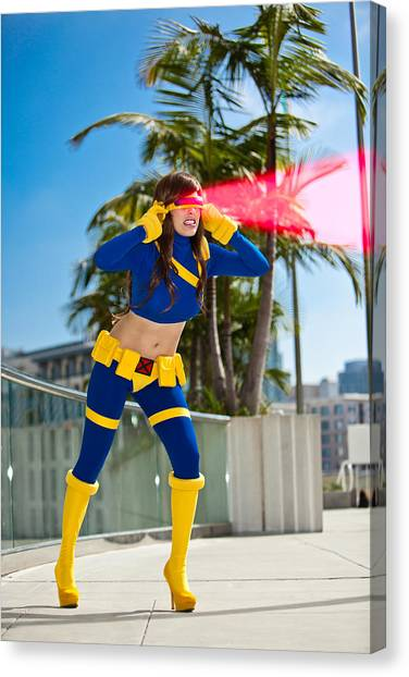 Awesome X-man Cyclops Canvas Print by Andreas Schneider