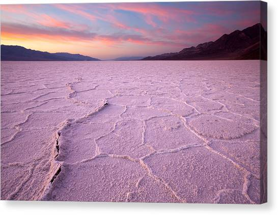 Badwater Salt Flats Canvas Print