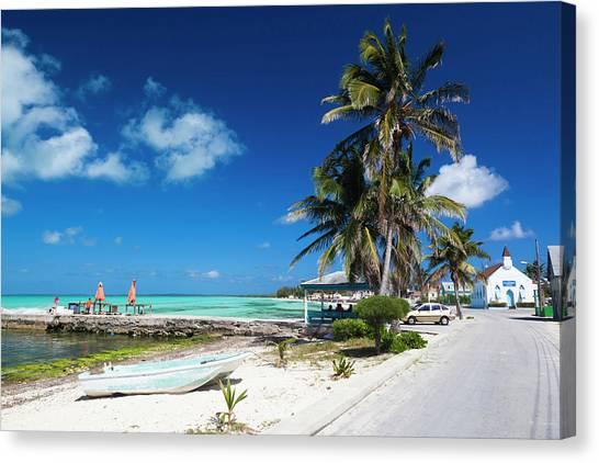 Bahamian Canvas Print - Bahamas, Eleuthera Island, Tarpum Bay by Walter Bibikow