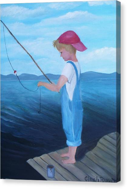 Bait Stealers Canvas Print by Glenda Barrett