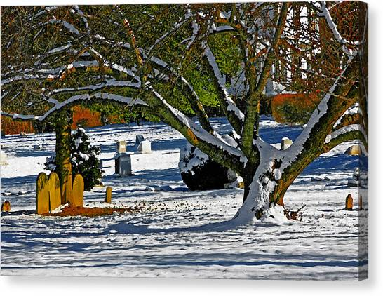 Baldwin Memorial United Methodist Church Cemetery Canvas Print