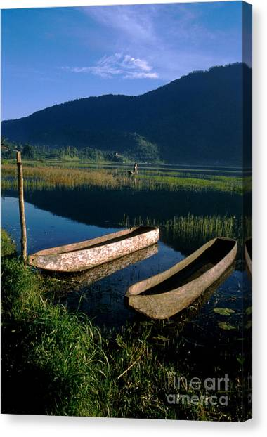 Jerry Rice Canvas Print - Bali Boats by Jerry McElroy