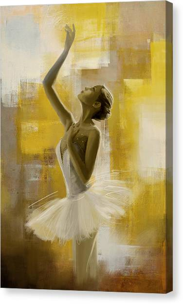Salsa Canvas Print - Ballerina  by Corporate Art Task Force