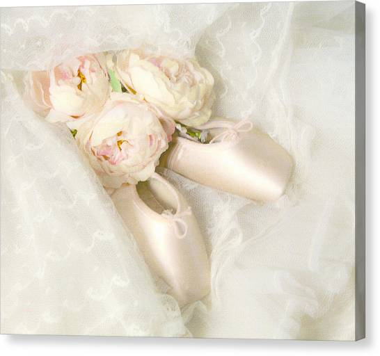Ballet Shoes Canvas Print - Ballet Shoes by Theresa Tahara