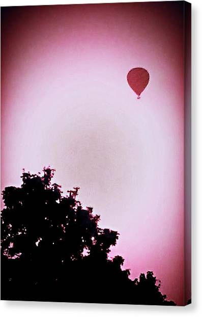 Hot Air Balloons Canvas Print - Balloon Silhouette by Candy Floss Happy