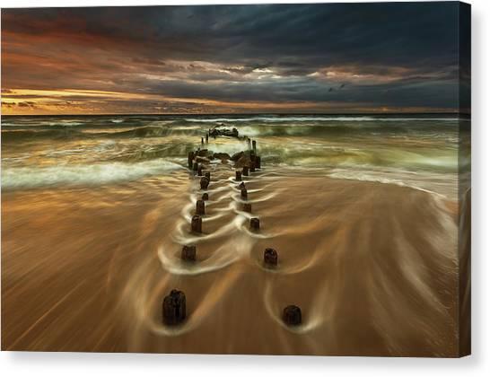 Flowing Canvas Print - Baltic... by Krzysztof Browko