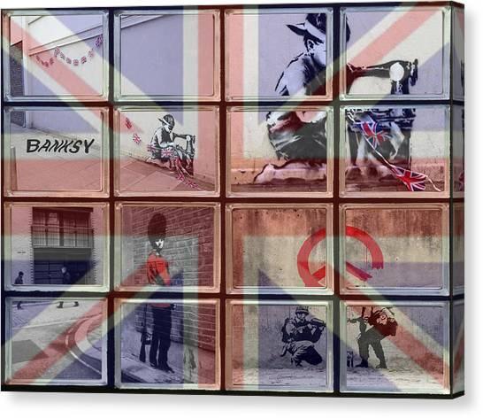 Graffiti Walls Canvas Print - Banksy Street Art by David French