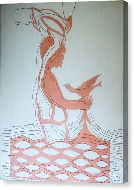 River Jordan Canvas Print - Baptism Of The Lord Jesus by Gloria Ssali