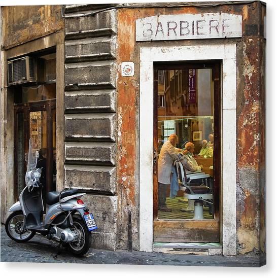 Street Canvas Print - Barbiere by Stefan Nielsen