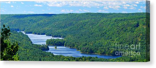 Connecticut Canvas Print - Barkhamsted Reservoir by HD Connelly