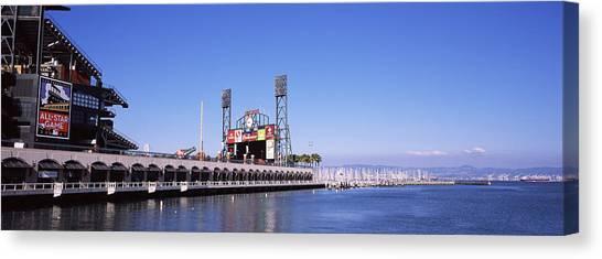 San Francisco Giants Canvas Print - Baseball Park At The Waterfront, At&t by Panoramic Images