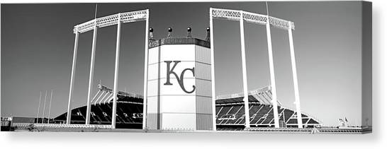 Kansas City Royals Canvas Print - Baseball Stadium, Kauffman Stadium by Panoramic Images