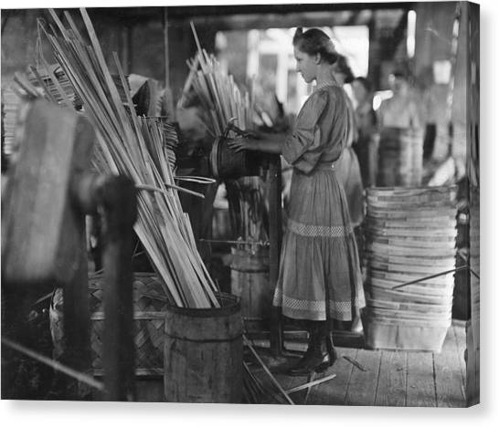 Evansville Canvas Print - Basket Factory, 1908 by Granger