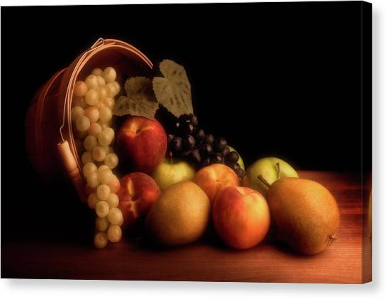 Fruit Baskets Canvas Print - Basket Of Fruit by Tom Mc Nemar