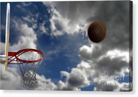 Three Pointer Canvas Print - Basketball  by Lane Erickson