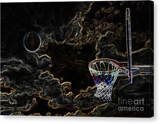 Three Pointer Canvas Print - Basketball  Shot by Lane Erickson