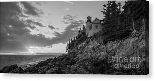 Bass Harbor Head Light Sunset  Canvas Print