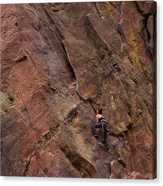 Rocky Mountains Canvas Print - Bastille Crack At Eldo by Jonathan Joslyn