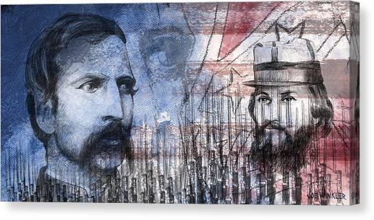 Canvas Print featuring the digital art Battle Of Gettysburg Tribute Day Two by Joe Winkler
