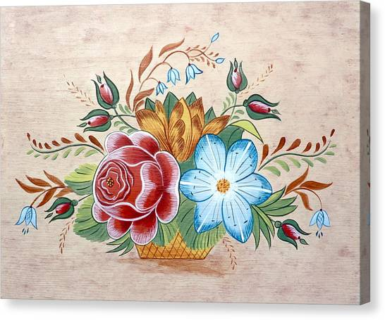 Bavarian Floral  Canvas Print by Brenda Ruark