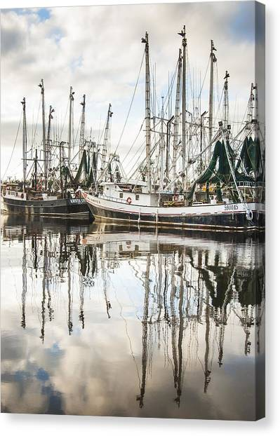 Bayou Labatre' Al Shrimp Boat Reflections Canvas Print