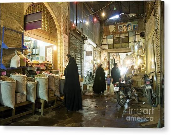 Bazaar Market In Isfahan Iran Canvas Print
