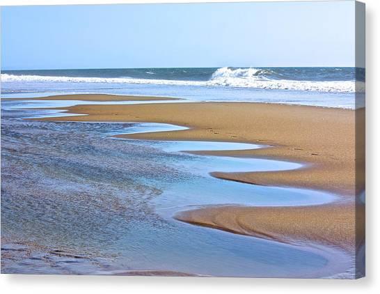 Beach Hand Canvas Print