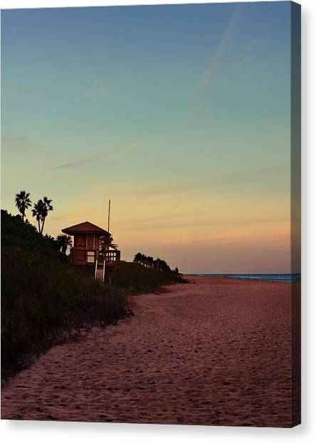 Lifeguard Canvas Print - Beach Hut by Laura Fasulo