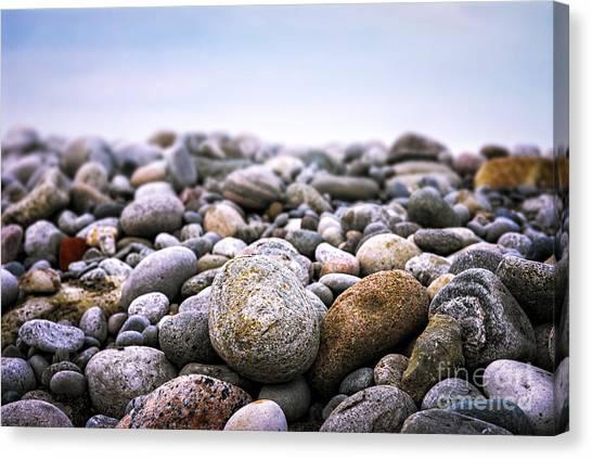 Rock Canvas Print - Beach Pebbles by Elena Elisseeva