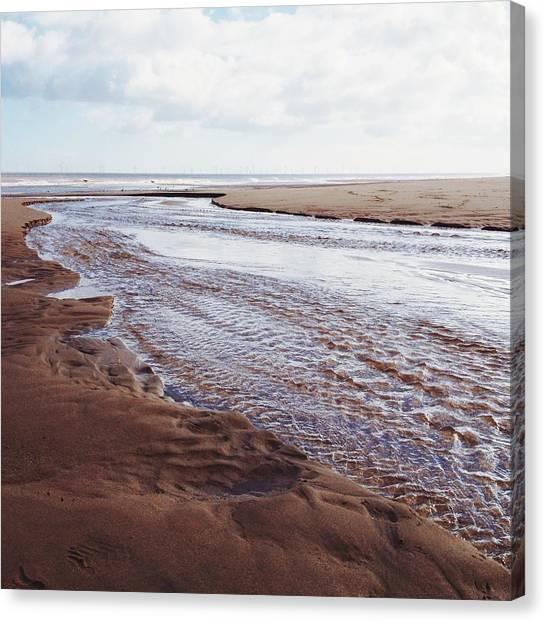 United Kingdom Canvas Print - Beach Stream by Gemma Knight