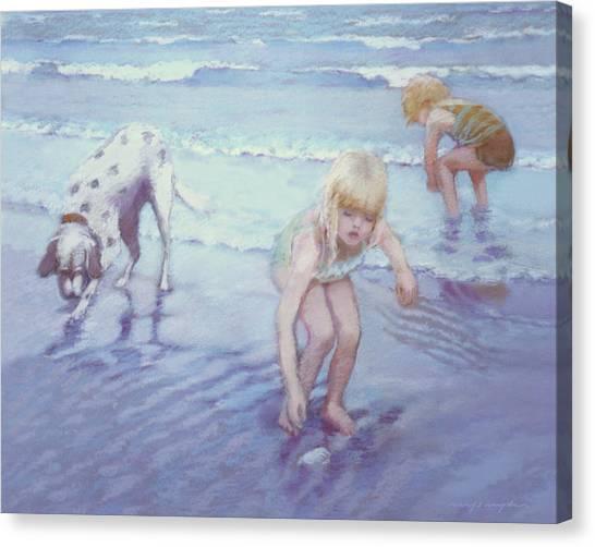 Beach Threesome Canvas Print
