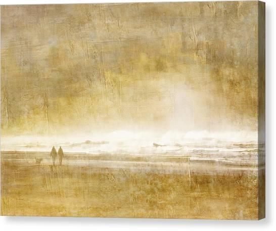 Walk Canvas Print - Beach Walk by Carol Leigh
