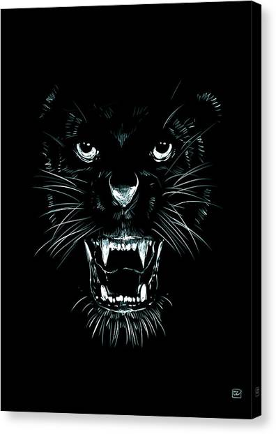 Teeth Canvas Print - Beast by Giuseppe Cristiano