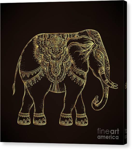 Traditional Canvas Print - Beautiful Hand-drawn Tribal Style by Gorbash Varvara