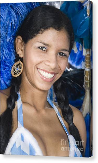 Amazon River Canvas Print - Beautiful Women Of Brazil 12 by David Smith