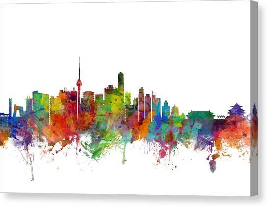 Chinese Canvas Print - Beijing China Skyline by Michael Tompsett