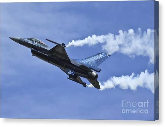 F16 Canvas Print - Belgian F16 by J Biggadike