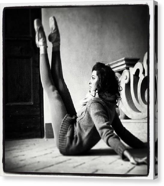 Ballerinas Canvas Print - Belgioioso Castle,italy #ballerina by Marco Cappalunga