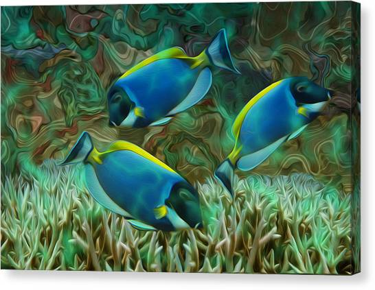 Reference Canvas Print - Beneath The Waves Series by Jack Zulli