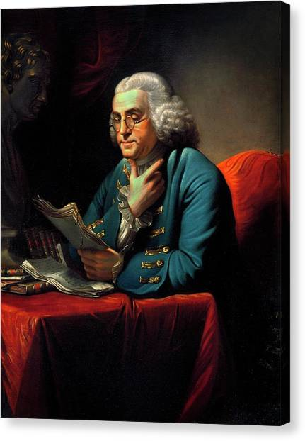 Political Science Canvas Print - Benjamin Franklin by American Philosophical Society